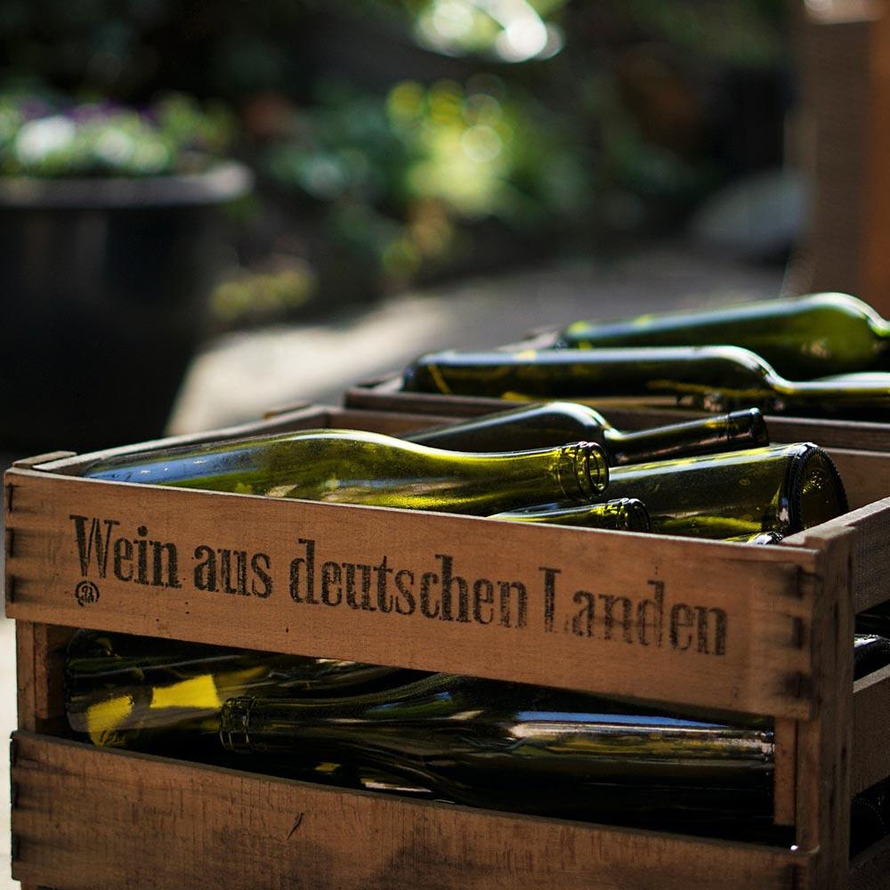 Tyska viner i trälåda